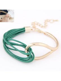 RGB4602 - Aksesoris Gelang Metal Leather