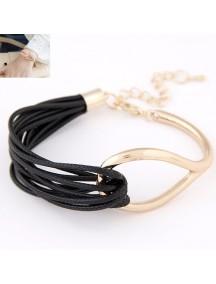 RGB4603 - Aksesoris Gelang Metal Leather