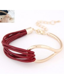 RGB4604 - Aksesoris Gelang Metal Leather
