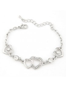 RGB4979 - Aksesoris Gelang Love Flash Diamond (Silver)