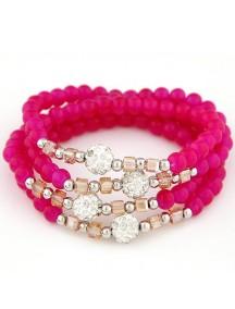 RGB5144 - Aksesoris Gelang Crystal Beads Multilayer
