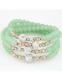 RGB5147 - Aksesoris Gelang Crystal Beads Multilayer