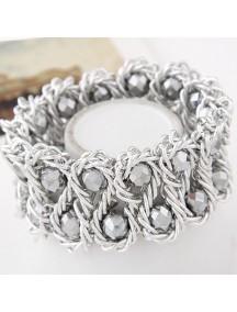 RGB5164 - Aksesoris Gelang Metal Crystal