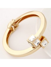 RGB5172 - Aksesoris Gelang Metal Cube Diamond