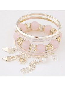 RGB5285 - Aksesoris Gelang Metal Multilayer Fashion