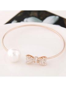 RGB5565 - Aksesoris Gelang Bow Pearl