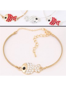 RGB5683 - Aksesoris Gelang Fashion Flash Diamond Ikan (Random Color)