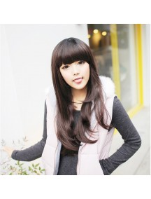 HO5026A - Wig/ Rambut Palsu Panjang (Natural Dark Brown)