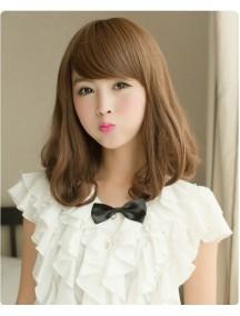 HO5029- Hair Wig Rambut Panjang Sedang ( Light Brown )