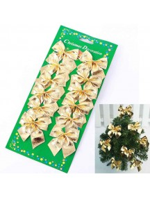 HO1351 - Christmas Decoration Tree Ornament Gold Bow