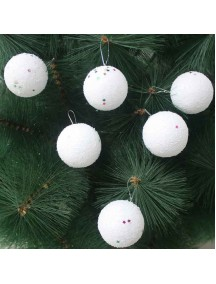 HO1367 - Christmas Tree Ornament Bola Natal Salju (4 CM)