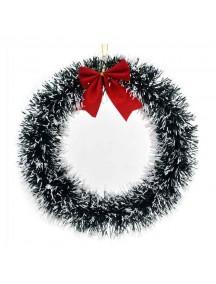 HO1380 - Christmas Decoration Wreath Snow Green