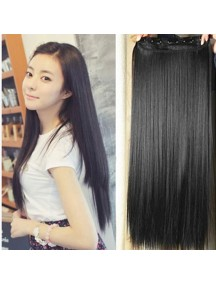 HO1393 - Hair Clips Ekstension Lurus Panjang Black