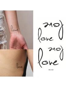 HO1411 - Temporary Tattoo Love
