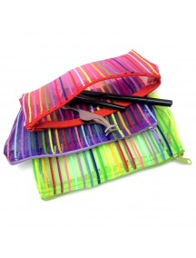 HO1454 - Rainbow Pouch Make up Serbaguna (Random Color)
