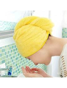 HO1456 - Handuk Kecil Pengering Rambut (KUNING)