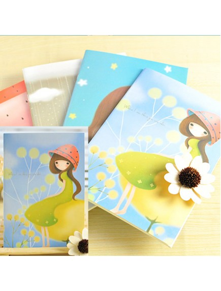 HO5018W - Buku Notebook / Notepad Korea Cute