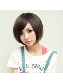 HO5023 - Hair Wig/ Rambut Palsu Pendek (Dark Brown)
