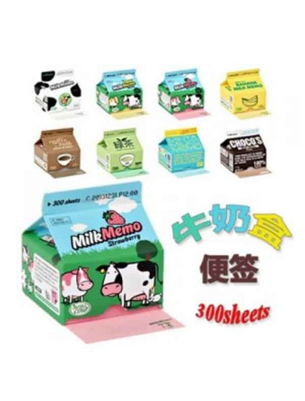 HO5039W - Milk Cartoon Memo