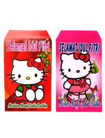 HO5109 - Amplop Idul Fitri Hello Kitty isi 10 pc