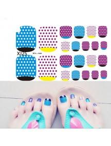 HO5125 - Toe Nail Sticker Kuku Kaki Glitter
