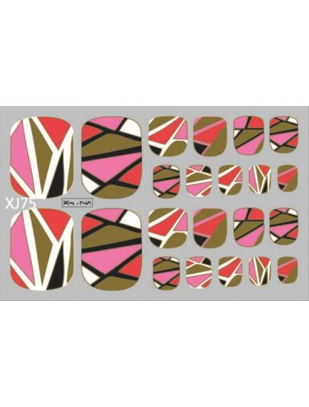 HO5126 - Toe Nail Sticker Kuku Kaki Seri Bronzing