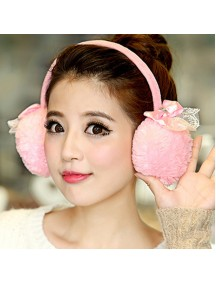 HO5175W - Earmuffs / Penutup Telinga Fashion Bow Lace
