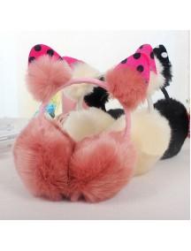 HO5186W - Earmuffs / Penutup Telinga Fashion Fur Ball