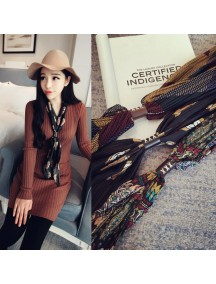 HO5206W - Fashion Scarf Korea With Leather Buckle