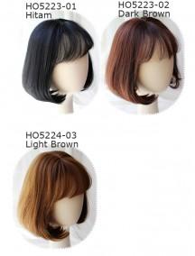 HO5223W - Wig/ Rambut Palsu Pendek