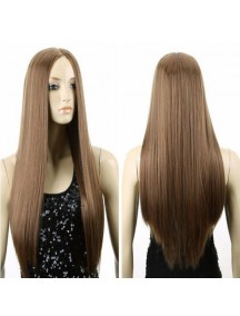 HO5227 - Hair Wig / Rambut Palsu Panjang Lurus (Light Brown)