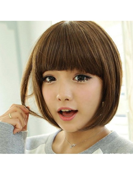 HO5231 - Wig Rambut  Palsu Pendek (Light Brown)
