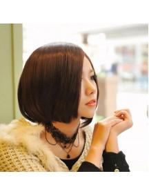 HO5237 - Hair Wig Rambut Palsu Pendek (Dark Brown)