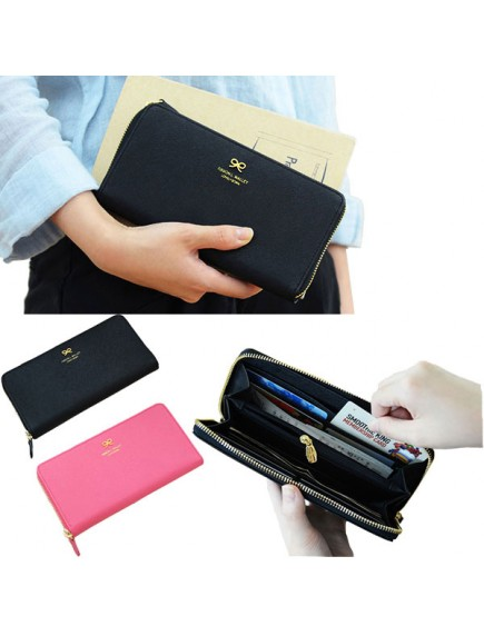 HO1498W - Dompet DonBook Cute Bow Zipper