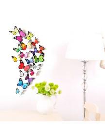HO1509W - Dekorasi Dinding Stiker Kupu-Kupu & Capung