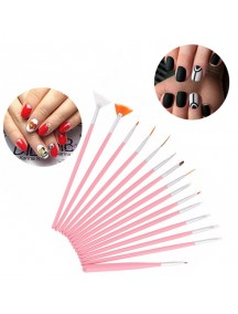 HO1547W - Nail Art Brush Set 15 Pcs