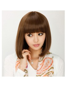 HO1587 - Hair Wig Rambut Palsu Poni Pendek (Light Brown)