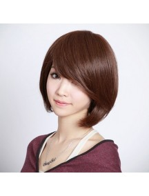 HO1589 - Hair Wig Rambut Palsu Pendek (Dark Brown)