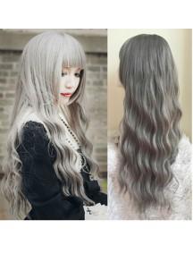 HO1590 - Cosplay Hair Wig Rambut Palsu Panjang (Ash Blonde)