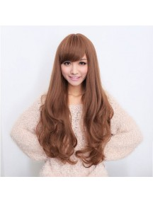 HO1591 - Hair Wig Rambut Palsu Curly Panjang (Light Brown)