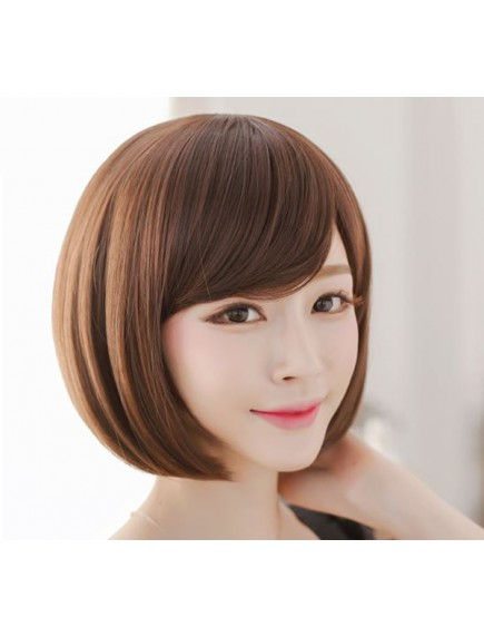 HO1596 - Hair Wig Rambut Palsu Bob Poni Pendek (Light Brown)