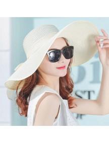 HO2525W -  Topi Pantai Sun Beach Hat Big Colorful