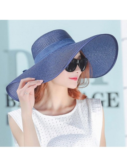 HO2525W -  Topi Pantai Sun Beach Hat Big Colorful