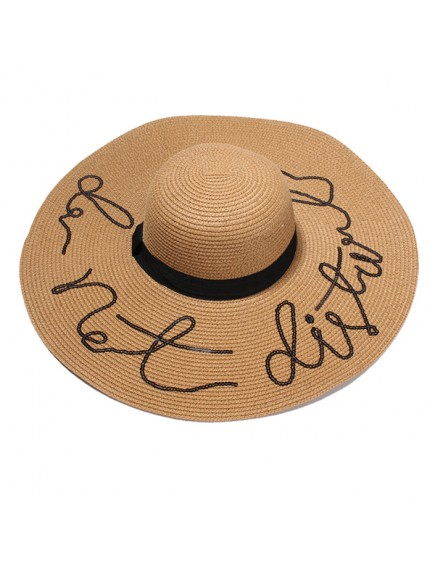 HO2526W -  Topi Pantai Sun Beach Hat Do Not Disturb