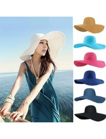 HO2529W -  Topi Pantai Sun Beach Hat Big Colour