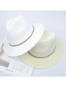 HO2531W -  Topi Pantai Unisex Sun Beach Straw Cowboy Hat