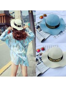 HO2532W -  Topi Pantai Sun Beach Moschino Hat