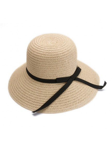 HO2535W - Topi Pantai Korean Straw Bow Hat
