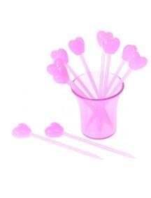 HO2542 - Garpu Buah Fruit Fork Love Pink