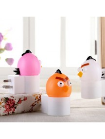 HO2545 - Lampu Led Night Lamp Angry Bird (Pink)